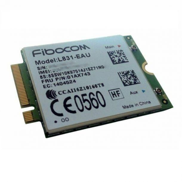 Lenovo ThinkPad Fibocom XMM7160 Cat 4 M.2 WWAN 4G LTE Modem Module 4XC0M95179