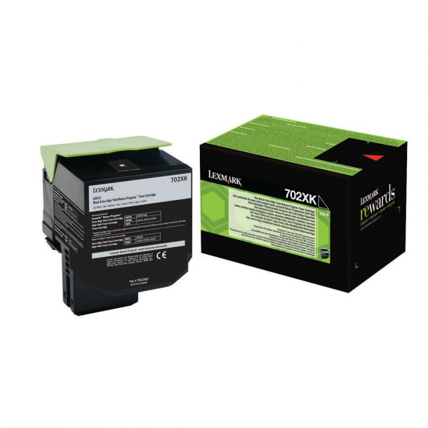 Lexmark 702XK Black Extra High Yield Toner Cartridge 70C2XK0 CS510
