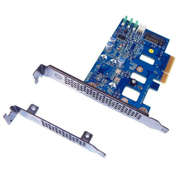 HP MS-4365 Z Turbo Drive (G1) PCIe to M.2 SSD Adapter Controller Card w/ FH & LP Bracket 742006-002