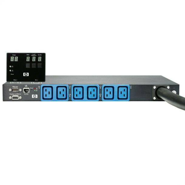 HP AF525A Intelligent 32A Rack Core PDU Modular Monitored 1U Rackmount 6 x C19