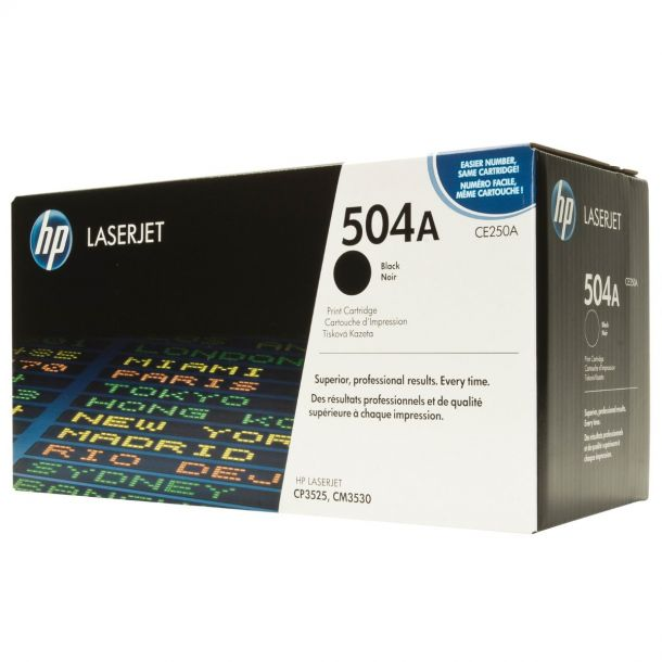 HP 504A Black Toner Cartridge CE250A For LaserJet CP3520 CP3525 CM3530
