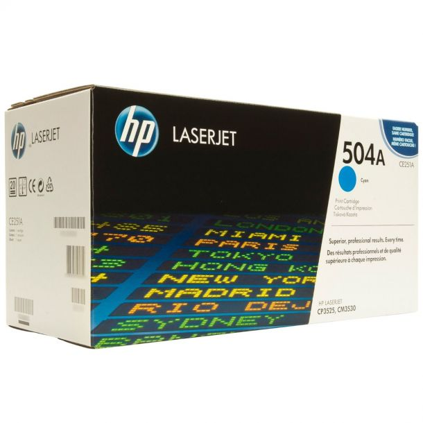 HP 504A Cyan Toner Cartridge CE251A For LaserJet CP3520 CP3525 CM3530