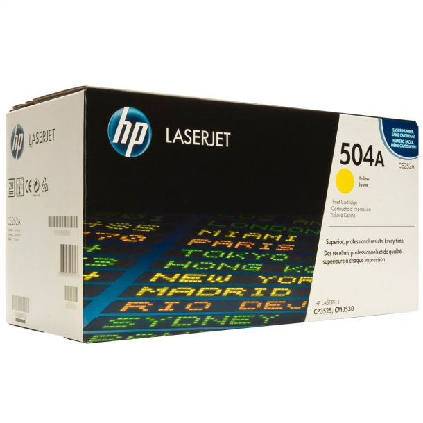 HP 504A Yellow Toner Cartridge CE252A For LaserJet CP3520 CP3525 CM3530