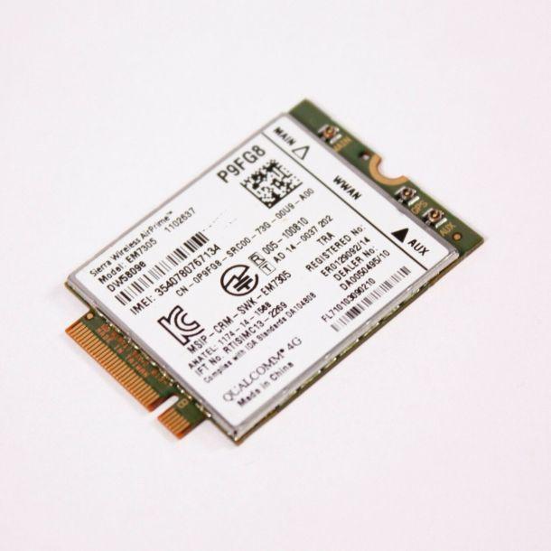 Dell / Sierra Wireless AirPrime DW5809e M.2 Laptop 4G LTE WWAN Card EM7305 P9FG8