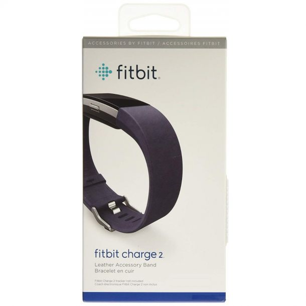 Fitbit Charge 2 Leather Accessory Band Indigo Large Replacement Strap FB160LBIGL