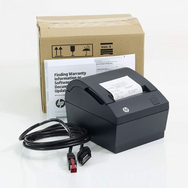 HP Single Station PoweredUSB Thermal EPOS Receipt Printer FK224AA PUSB Black