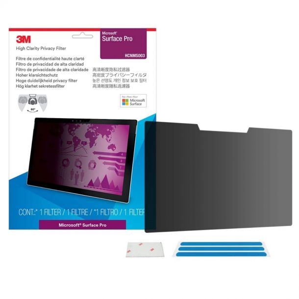 "3M HCNMS003 High Clarity Privacy Filter for Microsoft Surface Pro 12.3"" Screen Protector"