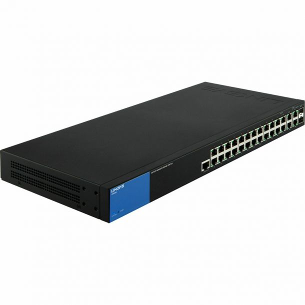 Linksys LGS528-UK 28 Port Gigabit Managed Network Switch 26GbE + 2 SFP Ports