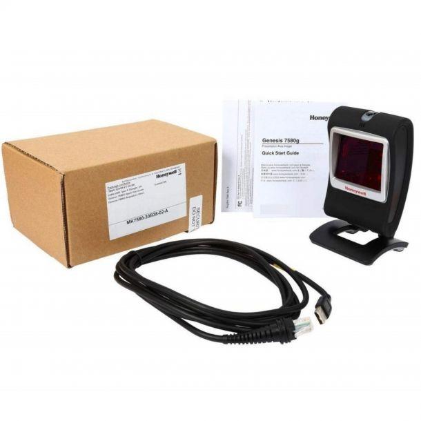 Honeywell 7580G 1D/2D Area Imaging USB Desktop Barcode Scanner MK7580-30A38-SBK
