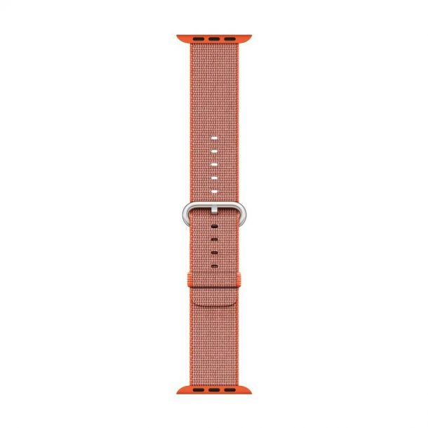 Apple Watch Strap 38mm / 40mm Orange / Anthracite Woven Nylon MNK52ZM/A