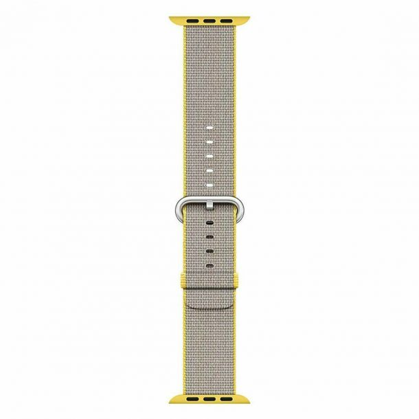 Apple Watch Strap 42mm / 44mm Yellow / Light Grey Woven Nylon MNKJ2ZM/A