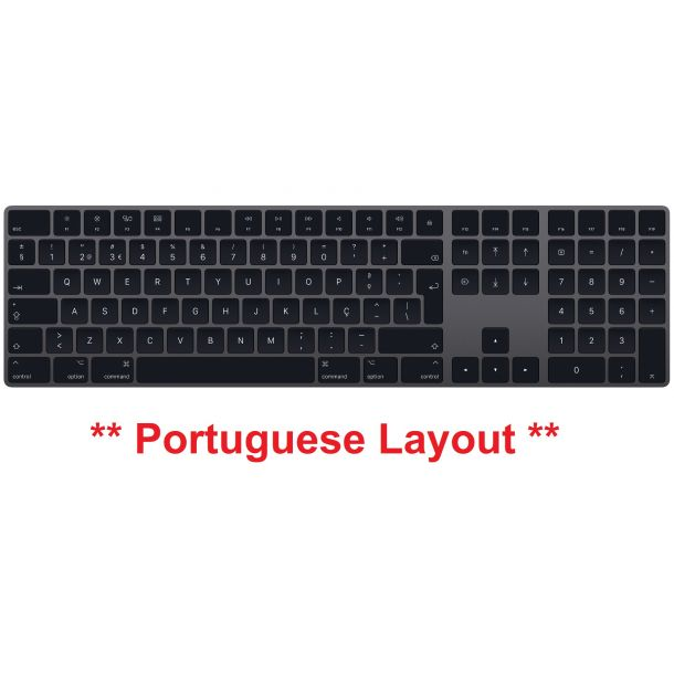 Apple Magic Keyboard with Numeric Keypad Space Grey PORTUGUESE LAYOUT MRMH2PO/A