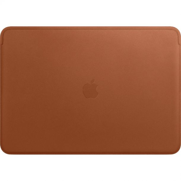Apple MacBook Pro 15 Inch Saddle Brown Leather Sleeve Case MRQV2ZM/A