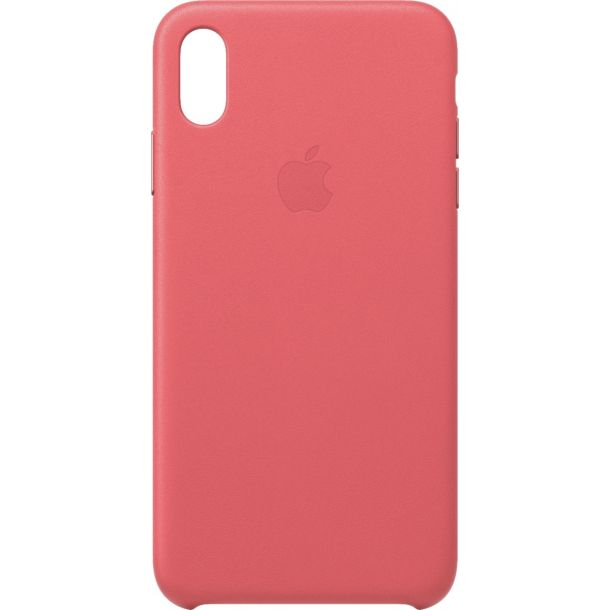 Apple iPhone Xs Max Peony Pink Leather Case MTEX2ZM/A (Genuine Apple)
