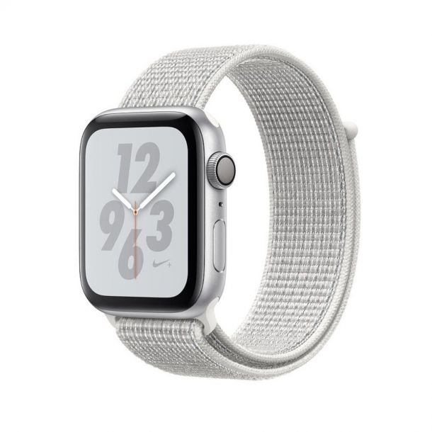 Apple Watch Nike+ S4 44mm Silver Aluminium + Summit White Sport Loop GPS+Cel MTXJ2B/A