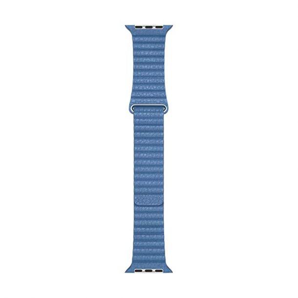 Apple Cornflower Leather Loop Medium Watch Strap, 44mm MV2X2ZM/A