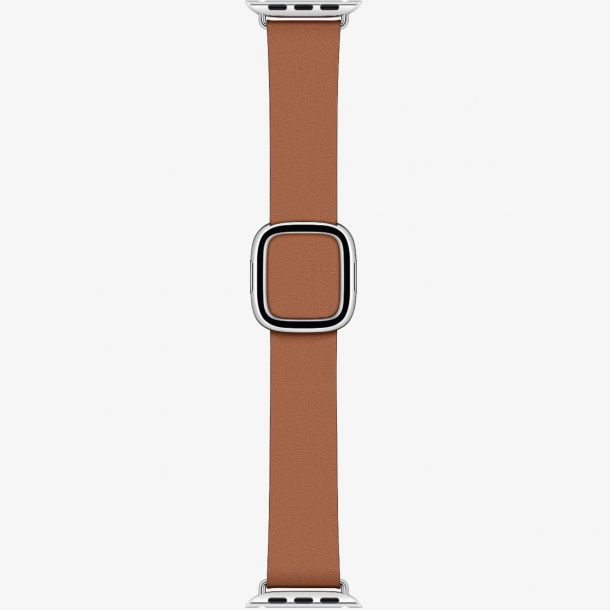 Apple Saddle Brown Leather Modern Buckle (Small) Watch Strap 40mm MWRC2ZM/A