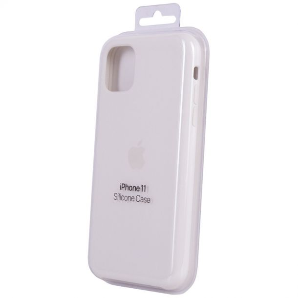 Apple iPhone 11 Soft White Silicone Case MWVX2ZM/A (Genuine Apple)