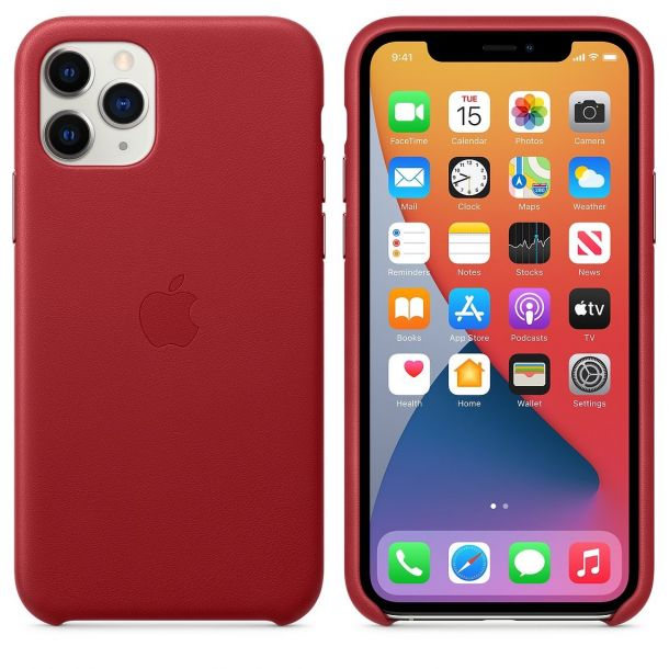 Apple iPhone 11 Pro (Product) Red Leather Case MWYF2ZM/A (Genuine Apple)