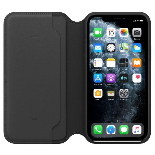 Apple iPhone 11 Pro Black Leather Folio Case MX062ZM/A (Genuine Apple)