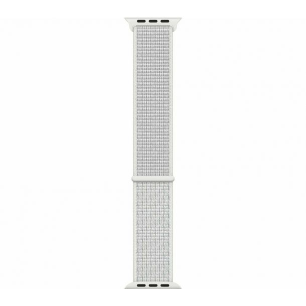 Apple Summit White Nike Sport Loop Watch Strap, 44mm MX822ZM/A