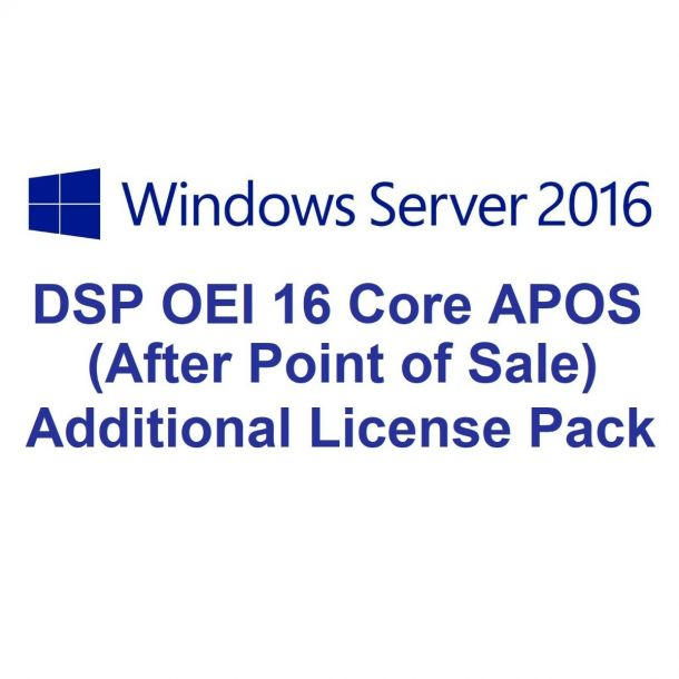 Microsoft Windows Server 2016 DSP OEI 16CR Licence No Media/Key APOS