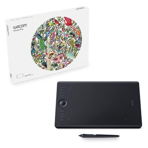 Wacom Intuos Pro Wireless Creative Pen & Touch Graphics Tablet (Medium) PTH-660-S