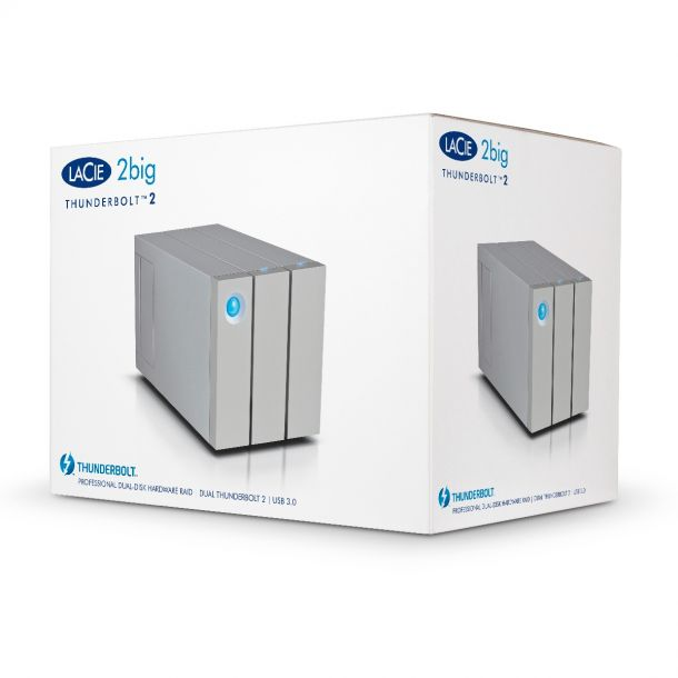 LaCie 2Big Thunderbolt 2 / USB 3.0 8TB 2-Bay External Hard Drive HDD with RAID STEY8000401