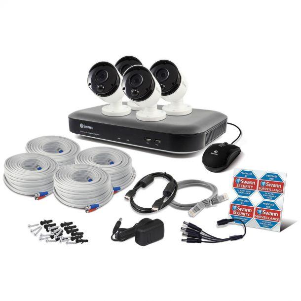Swann Smart Security CCTV System 5MP 8 Channel DVR + 4 Cameras SWDVK-849804-UK