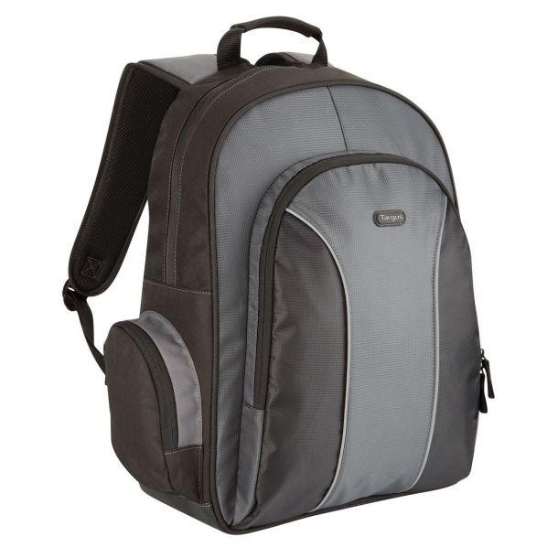 "Targus Essential 15.6"" Laptop Backpack Notebook Bag TSB023EU Black & Grey"
