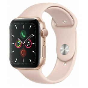 Apple Watch S5 44mm Gold Aluminium Case with Pink Sand Sport Band GPS MWVE2B/A